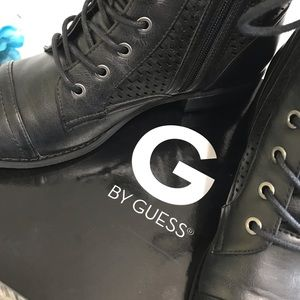 G by GUESS ATKIN Combat Boots